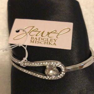 Jewel Badgley Mischka Crystal Bangle Bracelet NWT